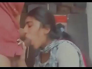 Indian slutty gf giving passionate blowjob to boyfriend